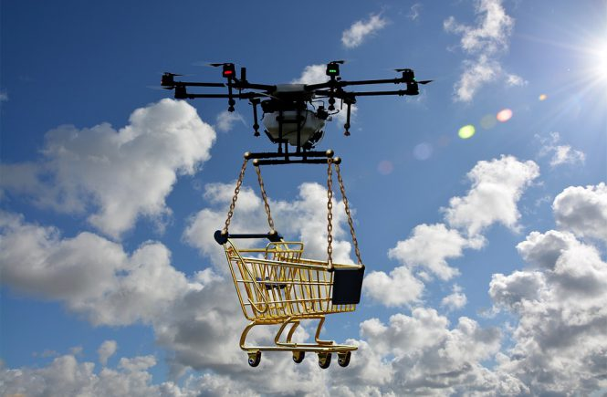 Drone Shopping Trolley